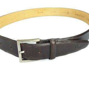 Calvin Klein Leather Belt Italian Calfskin USA M